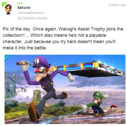 A New Wah-volution!: NEW Waluigi Support Thread | Smashboards