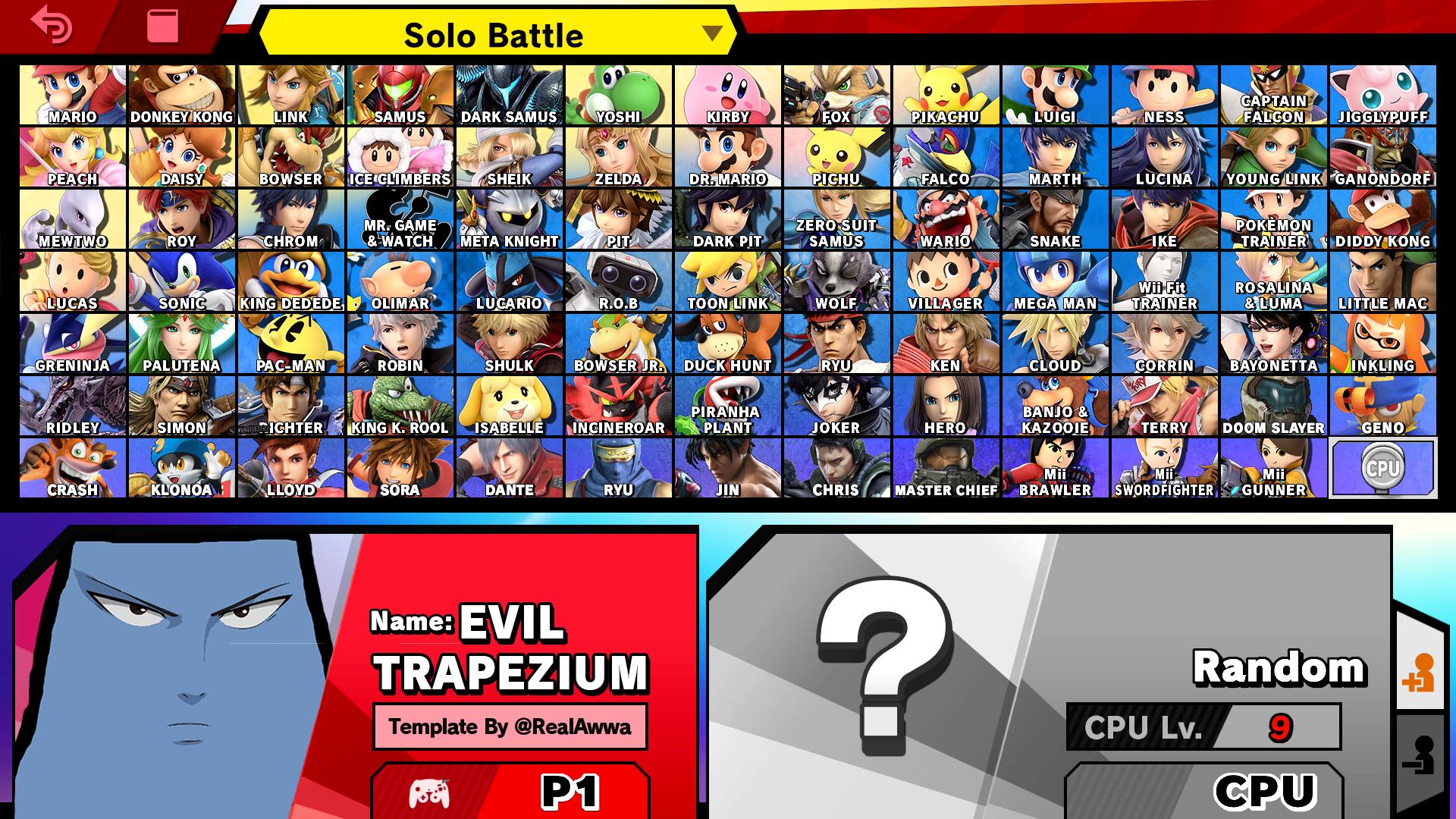 Evil Trapezium's smash ultimate roster.png