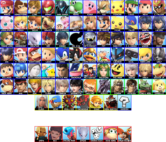 My Smash Ultimate Prediction Roster 9-3-2018 (Updated 9-13-2018).png