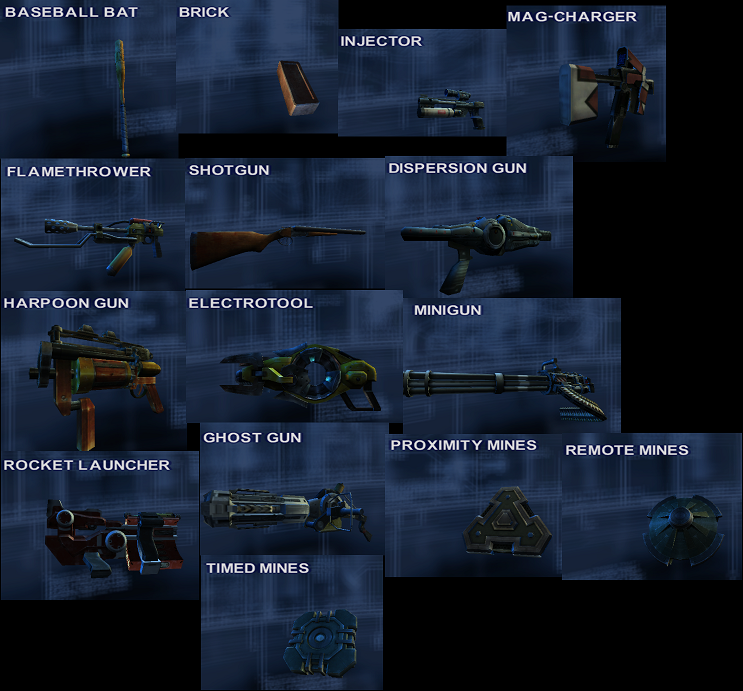 Small TImeSplitters weapons.png