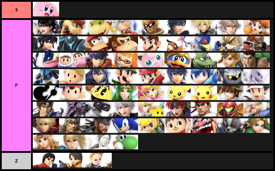 If Super Smash Bros Was True To Canon A Tier List Updated 9 12