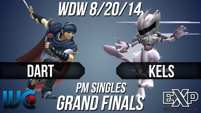 WDW 8/20/14 - Dart (Snake/Marth) vs. Kels (Mewtwo) PM Singles Grand Finals