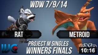 WDW 7/9/14 - Rat (Wolf) vs. metroid (Charizard/Ike) PM Winners Finals