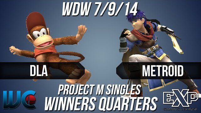 WDW 7/9/14 - DLA (Diddy) vs. metroid (Ike) PM Winners Quarters