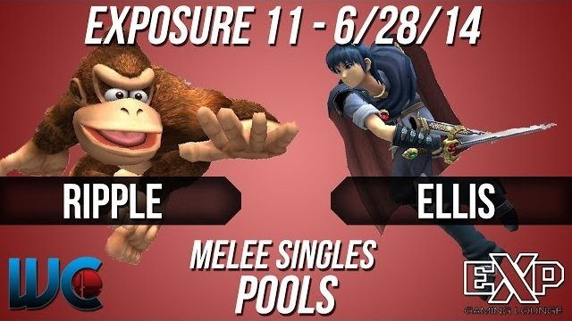 EXPosure 11 - Ellis (Jigglypuff/Marth) vs. Ripple(Swag Plane) (Samus/DK) Melee Singles Pools