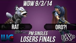 WDW 9/3/14 - Oro?! (Marth) vs. Rat (Wolf/Ike) PM Loser's Finals