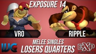 EXPosure 14 - Ripple (DK) vs. Vro (Falcon) Melee Losers Quarters