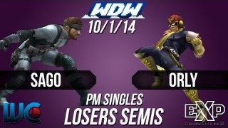 WDW 10/1/14 - ORLY (Falcon) vs. Sago (Snake) PM Losers Semis