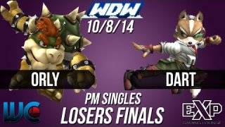 WDW 10/8/14 - Dart (Fox/Marth) vs. ORLY (Bowser/Falcon/Mewtwo) PM Loser's Finals