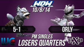 WDW 10/8/14 - ORLY (Mewtwo/Bowser/Falcon) vs. 5-1 (Wolf) PM Loser's Quarters