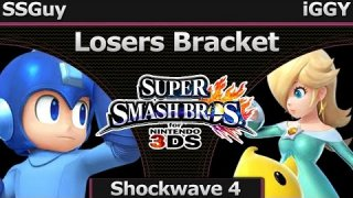 Shockwave 4 Smash 3DS - SSGuy (Megaman) vs iGGY (Rosalina) - Losers Bracket