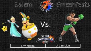 Smash 4 [10-4-14] Round 02: Shy Koopa (Bowser Jr, Rosalina) VS Urban Lion (Little Mac)