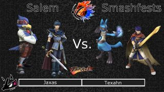 [Brawl|10-18-14] Round 01: Jaxas (Falco, Marth) VS Texahn (Lucario, Ike)