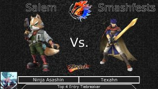 [Brawl|10-18-14] Top 4 Entrance Tiebreaker: Ninja Asashin (Fox) VS Texahn (Ike)