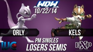 WDW 10/22/14 - ORLY (Mewtwo/Bowser) vs. Kels (Fox) PM Loser's Semis