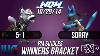 WDW 10/29/14 - 5-1 (Wolf/Pit) vs. SORRY (Lucario/Mario) PM Winner's Bracket