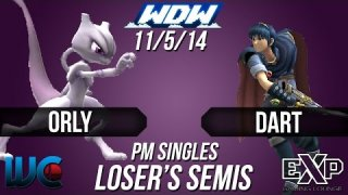 WDW 11/5/14 Orly (Mewtwo/Bowser) vs Dart (Marth) PM Loser's Semis