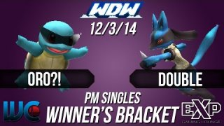 WDW 12/3/14 - Oro?! (Squirtle/Marth) vs. Double (Lucario/Ness) PM Winner's Bracket