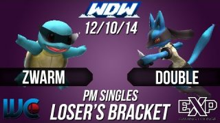 WDW 12/10/14 - Double (Lucario) vs. Zwarm (Squirtle) PM Loser's Bracket