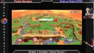[SmashU|02-24-15] Doubles R1: Pocket Monsters VS Fight or Flight HYPE!