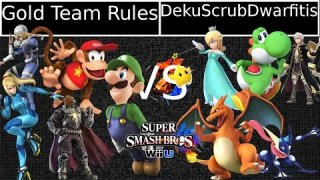 [Sm4shU|02-07-15] Triples Round 1: Gold Team Rules VS Deku Scrub Dwarfitis