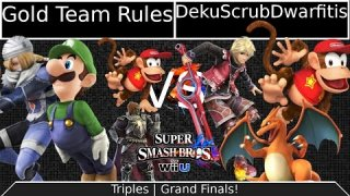 [Sm4shU|02-07-15] Triples Grand Finals: Gold Team Rules VS Charizard loves Monandos