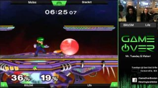 Game Over XII - BiltzSM (Fox) vs Life (Luigi) - SSBM