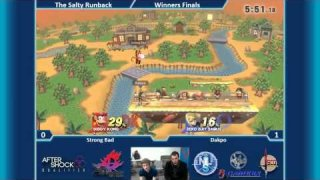 The Salty Runback SSB4 Singles Winners Finals: Strong Bad (Diddy) Vs. Dakpo (Zero Suit Samus)