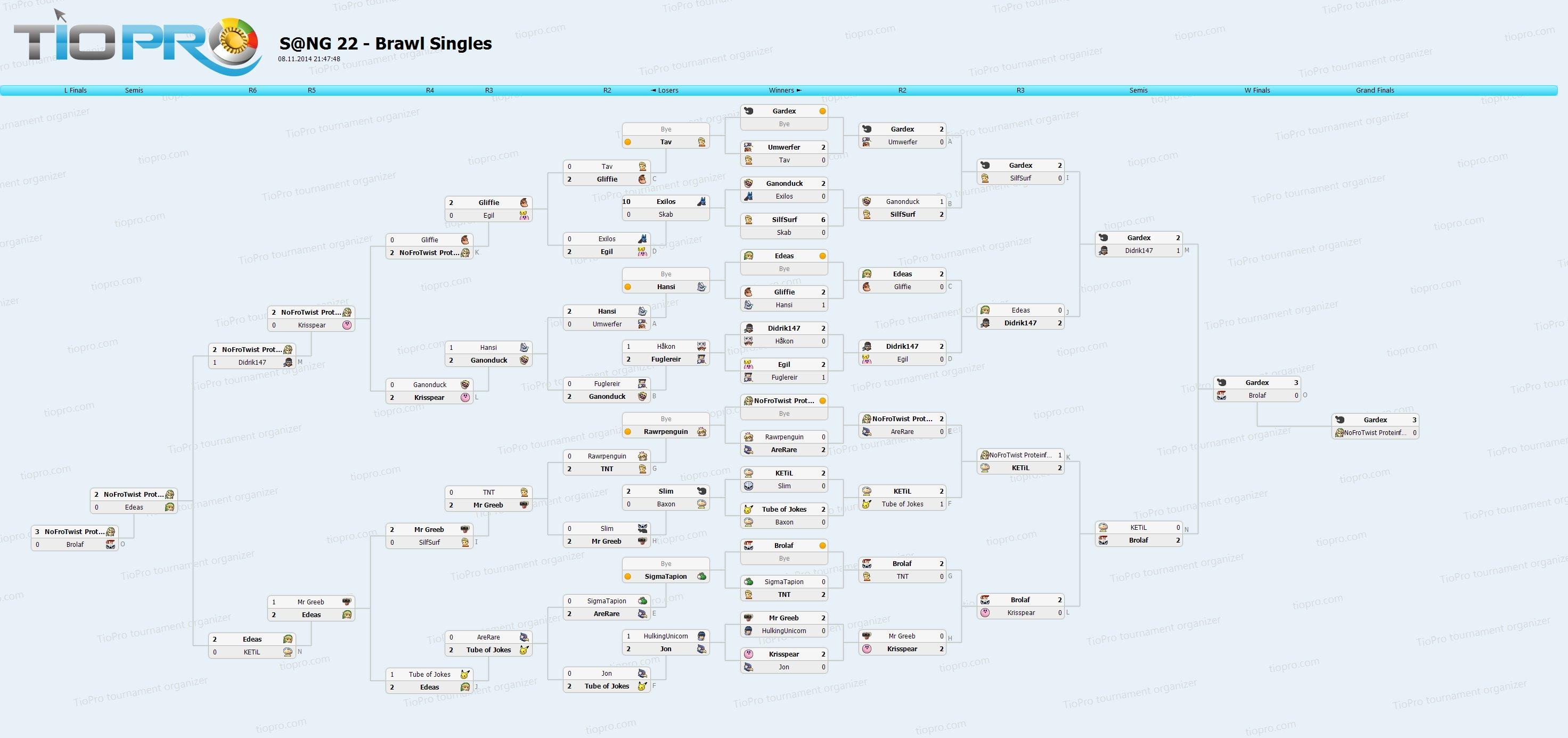 S@NG 22 - Brawl Singles